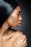 Black beauty with perfect skin Stock Image