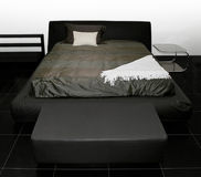 Black bed Stock Image