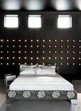 Black bedroom Royalty Free Stock Photo