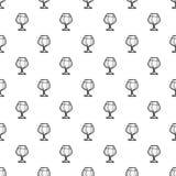 Black beer glass pattern seamless royalty free illustration
