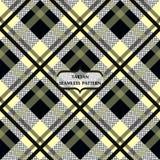 Black and Beige Tartan Plaid Scottish Pattern. Square seamless. Eps10 vector illustration