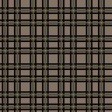 Black and Beige Tartan Plaid. Seamless Scottish Woven Pattern. Eps10 stock illustration