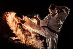 Black belt athlete Stock Photo