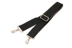 Black belt for a bag on a white background. Black belt for a bag on a white Stock Images