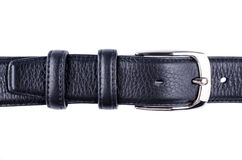 Black belt with a buckle isolated Stock Photo