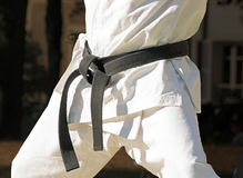 Black belt with a combat sport Stock Photos