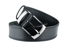 Black belt for men Stock Photos