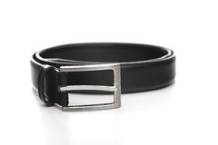 Black belt on white bacground Royalty Free Stock Images