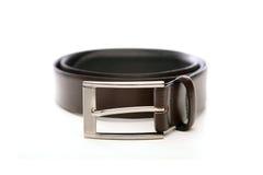 Black belt on white bacground Stock Image