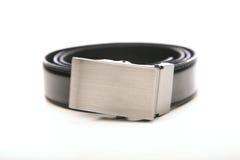 Black belt on white bacground Royalty Free Stock Image