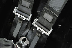 Black belts with buckle Stock Photography