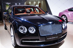 A black bentley car. Take on the 16th Chongqing International Motor Show, June 6th-12th, 2014. There are many international famous brand companies and Royalty Free Stock Photos