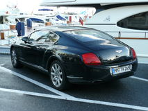 Black Bentley coupe parked in Puerto Banus Stock Photos
