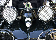 Black Bentley 1925 front view Royalty Free Stock Image