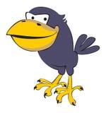 Black-berd. Artful a raven. A vector Stock Photography
