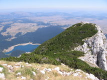 black berg för laken för crnodurmitorjezeroen Arkivbilder