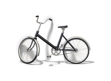 Black bicycle Royalty Free Stock Photography