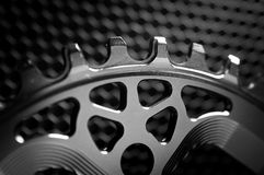 Black Bicycle chainring Stock Images