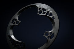 Black Bicycle chainring Stock Photo