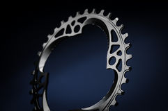 Black Bicycle chainring Stock Photography