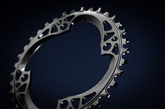 Black Bicycle chainring Royalty Free Stock Photo