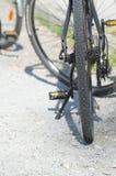 Black Bicycle Closeup Royalty Free Stock Photo