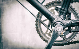 Black Bicycle gear drive chain. With copy space Royalty Free Stock Photography