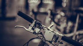 Black Bicycle Handlebars royalty free stock photography