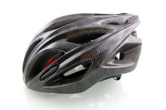 Black bicycle helmet. On white background Stock Images