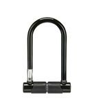 Black bicycle lock isolated Stock Photography