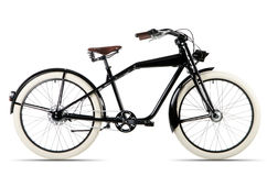 Black bicycle before white background Royalty Free Stock Images