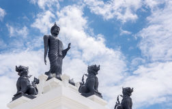 Free Black Big Buddha Statue With White Cloudy And Blue Sky Stock Images - 97069264