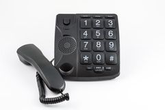 Black Big Button Telephone Royalty Free Stock Photography