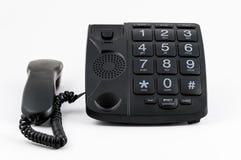 Black Big Button Telephone Royalty Free Stock Photos