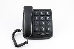 Black Big Button Telephone Stock Images