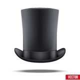 Black big gentleman hat cylinder Royalty Free Stock Images