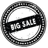 Black BIG SALE distressed rubber stamp with grunge texture. Illustration Royalty Free Stock Photo