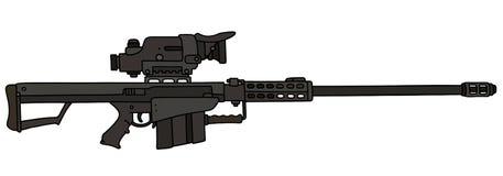 Black big sniper rifle Stock Image