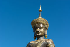 The Black Big Tammaracha buddha statue in Petchabun province, Th Stock Image