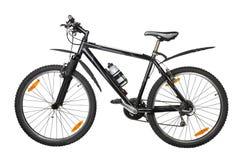 Black bike. Against white background Stock Images