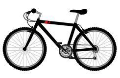 Black bike Royalty Free Stock Photography