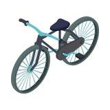 Black bike icon, cartoon style Royalty Free Stock Image