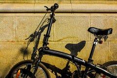 Black Bike. Profile of black bike with big comfortable seat Stock Image