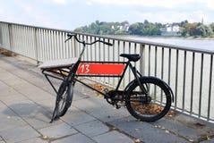 Black bike on the promenade Stock Photography