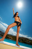 Black Bikini Girl Stock Photography