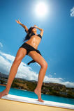 Black Bikini Girl Royalty Free Stock Images