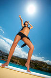 Black Bikini Girl Royalty Free Stock Photography