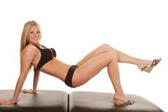 Black bikini lift up Stock Images