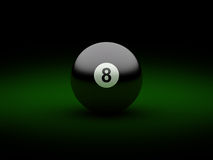 Black billiard ball Stock Images