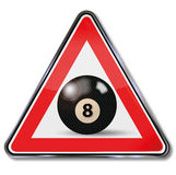 Black billiard ball number 8 Stock Photography